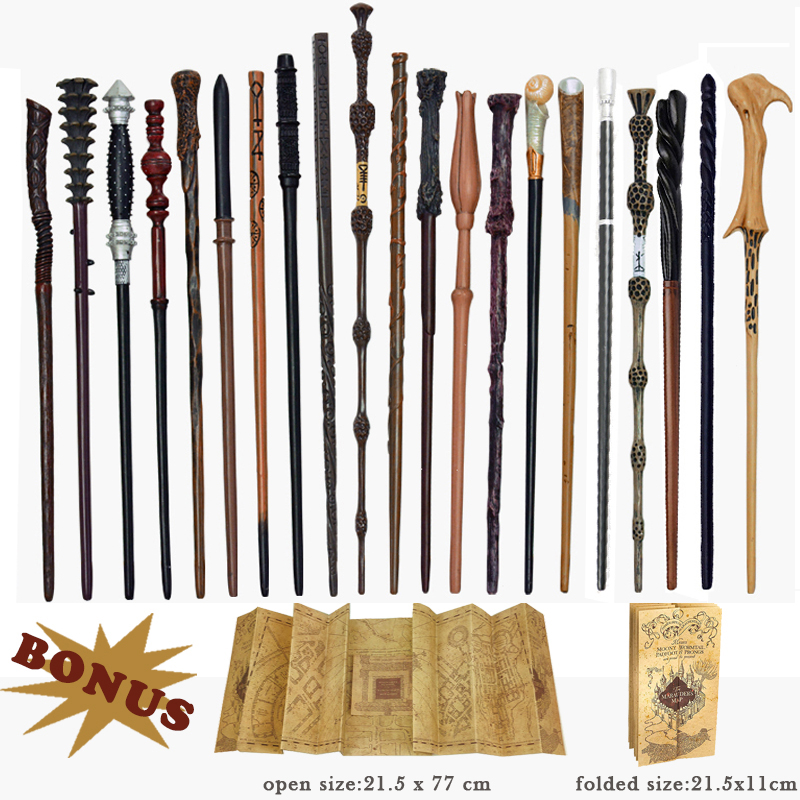 28 Kinds Of Metal Core Potters Magic Wands Cosplay Voldmort Hermione Magical Wand Harried Marauder's Map As Bonus Without Box
