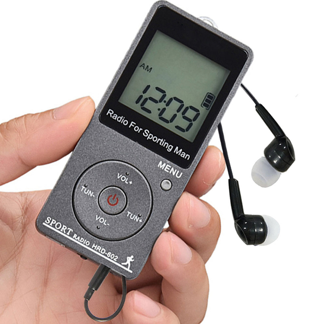 "JINSERTA נייד FM/AM רדיו מיני רדיו מקלט עם 1.57 ""LCD תצוגה FM76 108MHZ, 9 KHZ/10 KHZ מקלט עם סטריאו אוזניות"