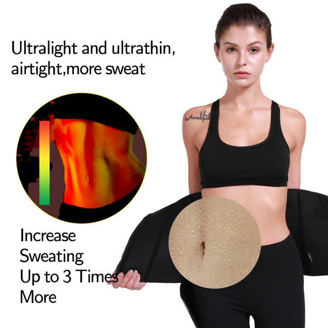 Slimming Girdles Waist Trainer Women Body Shaper Waist Corset Neoprene Sweat Sport Trimmer Belt Workout Support Boned Shapewear 1