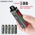 Оригинальный комплект VOOPOO VINCI Pod  аккумулятор 1500 мАч и сменный картридж VOOPOO VINCI  емкость 5 5 мл  паровой VOOPOO  комплект модов Pod