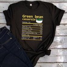 Женские футболки с зелеными бобами на День Благодарения повседневные