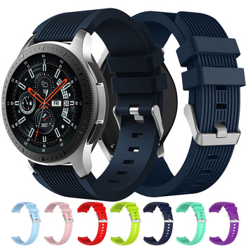 20mm 22mm Silicone watch band for Samsung Gear S3 Frontier Classic Replacemet Galaxy Watch 46mm 42mm strap