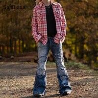 Plus größe 3XL Männer Jeans Boot Cut Denim Hosen 2021 Abnehmen Böden Hose Männlichen Patchwork Denim Jeans Bleistift Hosen Herren kleidung