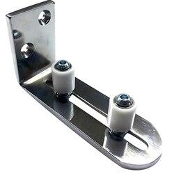 Prowadnica podłogowa dla dna przesuwane drzwi do stodoły regulowana prowadnica rolkowa do montażu na ścianie w Prowadnice liniowe od Majsterkowanie na