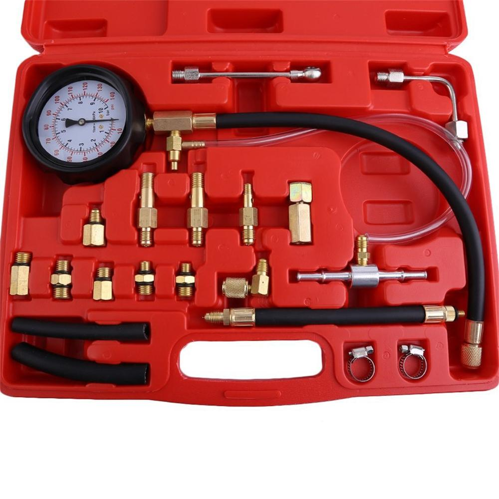 Car Fuel Pressure Detection Tool Set Fuel Pressure Gauge Car Fuel Pressure Detection Tool Fuel Pressure Gauge Set