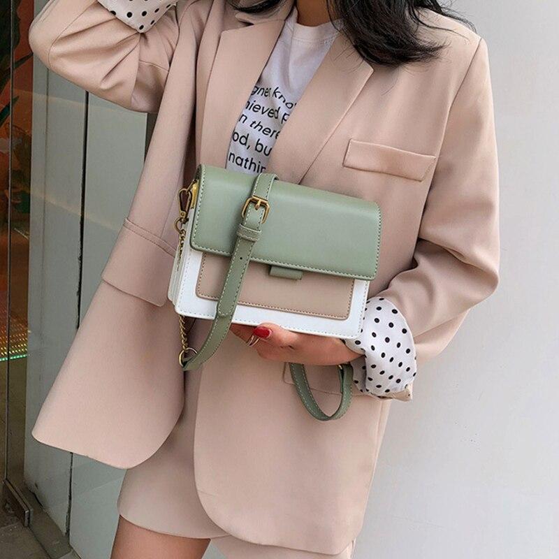 Image 3 - Brand Leather Crossbody Bags For Women 2020 Chain Shoulder  Messenger Bag Lady Travel Purses Mini Handbags Cross Body Bag  FashionShoulder Bags