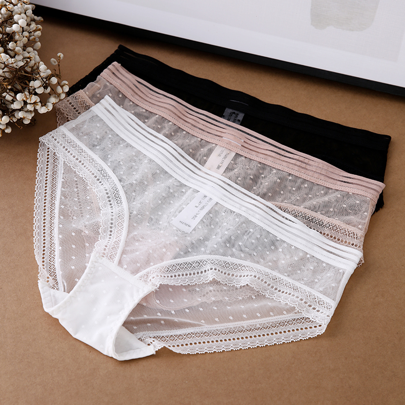 Sexy Lace Panties Women Fashion Lingerie Transparent Underwear Low Waist Intimates Briefs High Quality Ladies Panty 2020 New