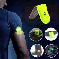 TK küresel LED emniyet lambası yansıtıcı manyetik klip Strobe yürüyüş koşu bisiklet bisiklet açık spor acil
