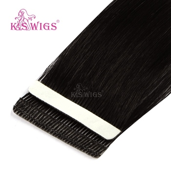 K.S WIGS Remy Tape In Human Hair Love Line Seamless Skin Weft Hair Extensions 16'' 20'' 24''