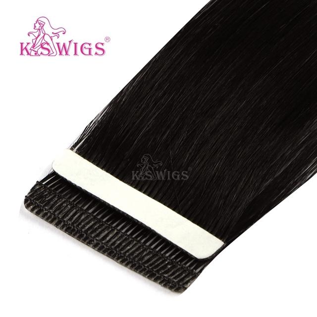 K S peruki Remy taśma w ludzkich włosach miłość linia bezszwowa skóra wątek przedłużanie włosów 16 #8221 20 #8221 24 #8221 tanie i dobre opinie K S WIGS 2 g sztuka Remy włosy 16 20 24 100 Human Hair No Other Mix