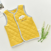 Cute Cloud Pattern Infant Sleeveless Vest 1 Piece Thick Baby Clothes For Winter Spring Tollder Outerwear Boys Grils Vest For Kid