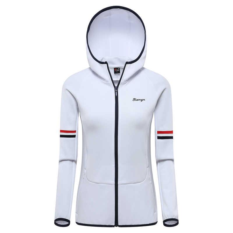 Abbigliamento da Golf Donne Giacca Golf Golf Abbigliamento Delle Donne Della Camicia Manica Lunga abito di Sfera Giacca Con Cappuccio Con Zip Cardigan Abbigliamento Sportivo di Alta Qualità