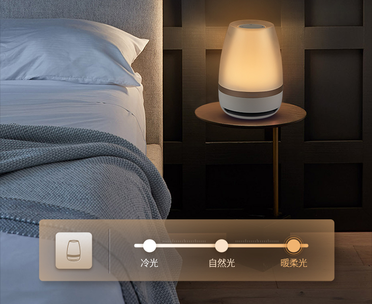 Falante Panasonic Sensor de Toque Bluetooth Speaker Luz LED Night Light Música Inteligente de Controle Remoto Sem Fio Lâmpada de Mesa - 6