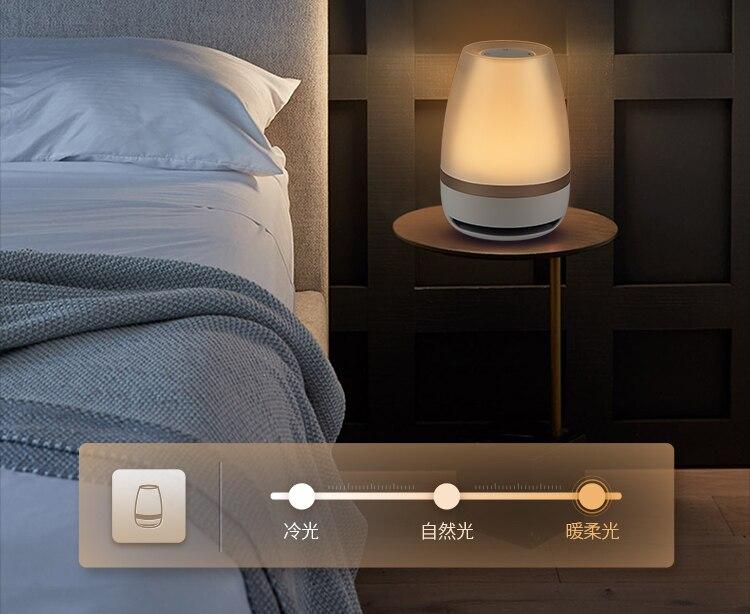 Panasonic haut parleur tactile capteur Bluetooth haut parleur lumière télécommande sans fil LED veilleuse intelligente musique lampe de Table - 6