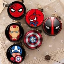 New Avengers Cartoon Coin Purse Iron Man Hulk Captain America Key Case Wallet Children Thanos Headset Bag Coin Bag For Marvel стоимость