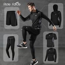 5 unids/set chándal de los hombres gimnasio de compresión de ropa deportiva traje de correr Jogging ropa deportiva de ejercicio medias