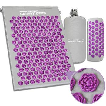 Stress Relieving Acupressure Massage Mat with Pillow Set for Exercise to Release Back Neck and Sciatic Pain