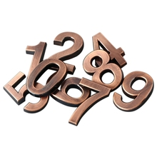 цена 0-9 Door Numbers Customized House Address Sign Bronze Digital Door Head Three-dimensional Sign Number Sign онлайн в 2017 году