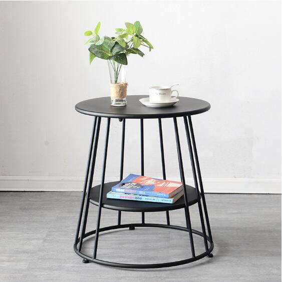 Nordic Coffee Tables For Living Room Modern Small Round Table Minimalist Furniture Coffee Tea Tray Table Iron Europe Furniture