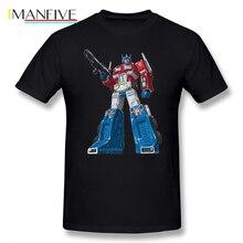 Optimus T Shirt Prime T-Shirt 100 Percent Cotton Funny Tee Beach Plus size Print Mens Short Sleeve Tshirt