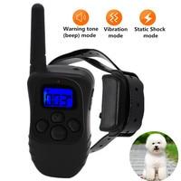 998DB Fernbedienung Elektrische Hund Kragen 300M Wasserdichte Wiederaufladbare Trainer E-Kragen Mit 3 Ausbildung Modi Statische Vibration Beep