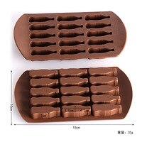 50 pcs 15 Coke Bottles Silicone Cake Baking Chocolate Mould Ice Lattice Mould Block Candy Pudding Ice Mould DIY