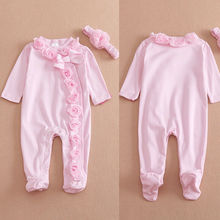 2019 Newborn Kids Baby Boy Baby Girl Warm Infant  Cotton Long Sleeve Romper Jumpsuit Hooded Clothes Sweater Outfit 0-9M
