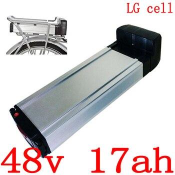 48V 1000W batterie 48v 17ah vélo électrique batterie 48V 17AH 18AH lithium ion batterie utilisation LG cellule avec 30A BMS + 54.6V 2A charge electric bike battery bike battery electric bike battery rack -