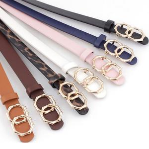 New Women's Leisure Belt Round Buckle Decoration Jeans Dress Belt Fshion Imitation Leather Belt Comfortable Soft Dropshipping