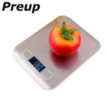 цена на PREUP 5000g/1g 5kg Electronic LCD Digital Kitchen weight Scale Food Diet Postal balance weight Measuring Stainless Steel
