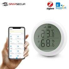 Ewelink ZigBee intelligent sans fil capteur de température et d'humidité détecteur écran affichage LED thermomètre domotique