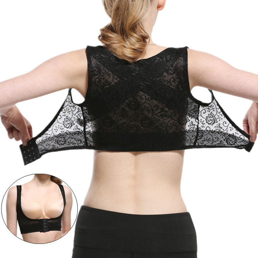 Back Posture Corrector for Women Chest Brace Up Prevent <font><b>Humpback</b></font> Breathable Lace Vest Corset S/M/L/XL/XXL image