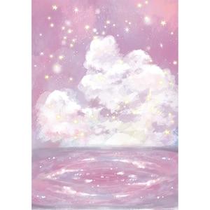 Image 3 - Funnytreeถ่ายภาพฉากหลังสตูดิโอNight Starry Sky Stars Cloud Baby Showerพื้นหลังPhotozoneไวนิลPhotophone