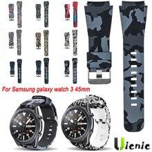 Ремешок силиконовый для Samsung galaxy watch 3 45 мм, сменный спортивный браслет для наручных часов, 22 мм