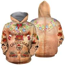 Tessffel Santa Claus Christmas MenWomen HipHop 3Dfull Printed Sweatshirts/Hoodie/shirts/Jacket Casual fit colorful funny Style28 snowflake printed and santa claus pullover hoodie