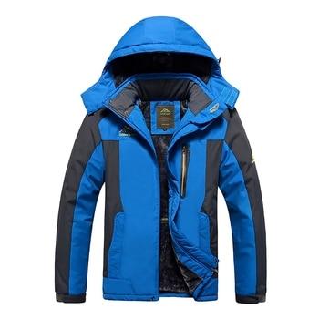 Hiking Jackets Winter Autumn Warm Thick Outdoor Climbing Hiking Coat Winter Waterproof Fishing Jackets Men Fleece