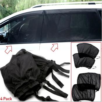 Universal 1 Juego de ventana de coche niños bebé Uv Mosquito polvo protegido lado ventana películas visera parasol malla escudo cubiertas de coche