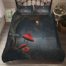 A Bedding Set 3D Printed Duvet Cover Bed Set Fairy Mushroom Home Textiles for Adults Bedclothes with Pillowcase #MG02 шторы тканевые seven fairy home textiles 6036 5
