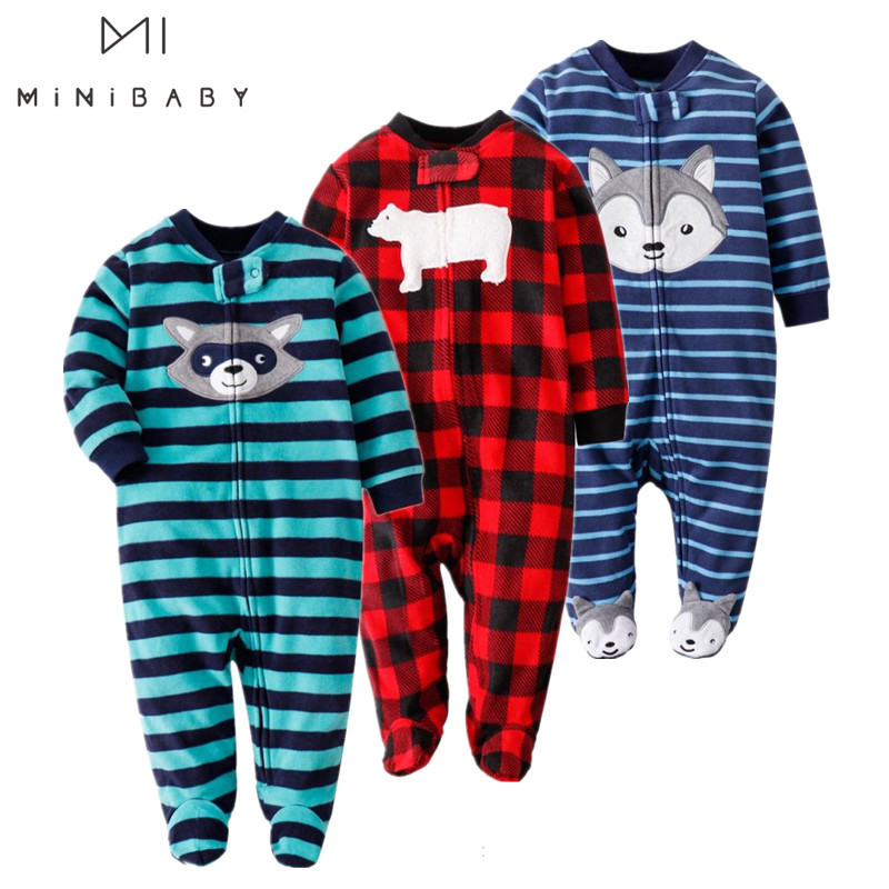 Brand Baby Romper Girls Rompers Kids Spring Clothes Newborn Boys Baby Body Girls Fleece Cartoon Clothing  Long Sleeve Clothes