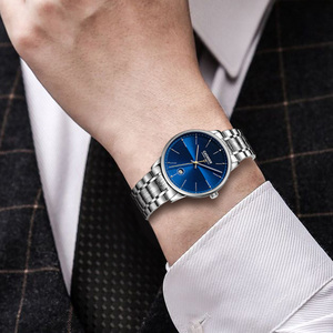 Image 5 - CADISEN reloj mecánico automático para hombre, reloj de pulsera militar, resistente al agua, de acero inoxidable, Masculino