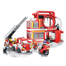 The Aerial Ladder Fire Truck Set City Series Building Blocks Bricks Toys Car Model Birthday Christmas Gifts lepin 02102 city series the mining experts site set with dump truck 60188 building blocks bricks funny toys model kids gifts