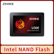 Intel NAND флэш-накопитель ZHIKE U300 SSD 120 ГБ 240 ГБ 480 1000 1 ТБ 2,5 дюймов SATA III твердотельный диск для рабочего стола ноутбук жесткого диска ПК