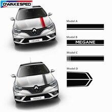 Autocollant en vinyle à rayures pour capot de voiture, pour Renault Megane GT RS coupé