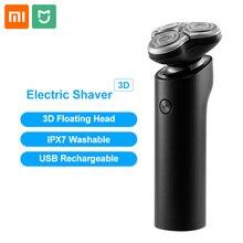 Xiaomi Mijia S500Electric Männer Rasierer Bart Trimmer 3 Kopf Flex Trocken Nass Waschbar Wichtigsten Sub Dual Klinge Turbo modus Comfy Sauber