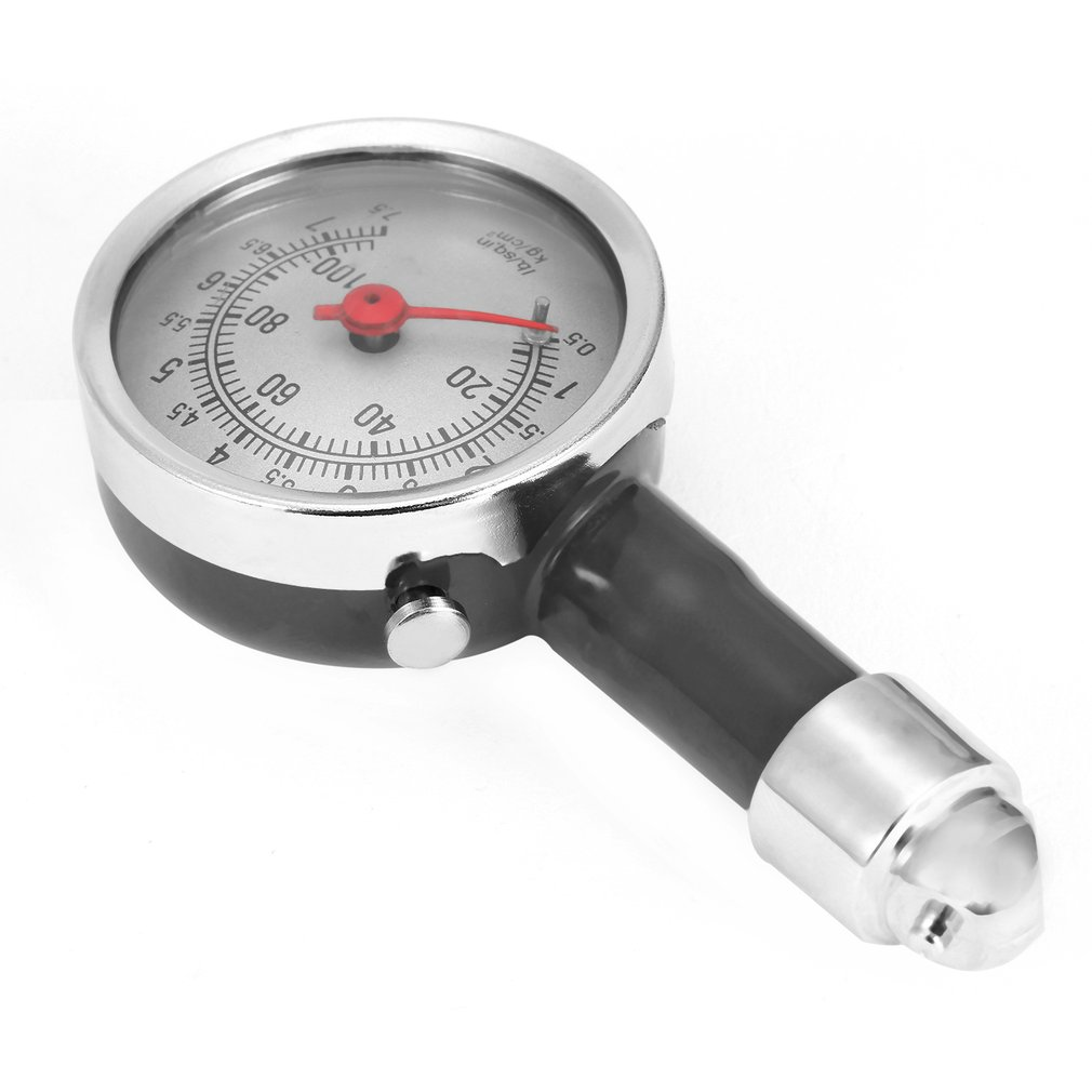 Black High Precision Car Motor Bike Dial Tire Mini Tire Pressure Gauge Meter Measurement Fetal Pressure Monitor Tools