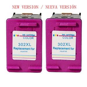 Новый 302 XL трехцветный картридж для hp 302xl hp 302 xl hp Deskjet 1110 2130 2135 3630 officejet 3632 5232