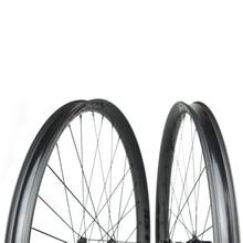 650b Asymmetric 40mm width 34mm internal All mountain / downhill carbon bike wheelset- WM-i34A-7-N