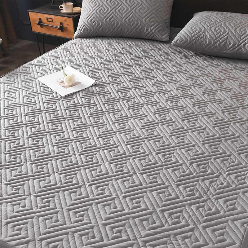 الجاكار القطن شامل غطاء انفصال مكافحة سوس فراش السرير مبطن مبطن السرير غطاء مرتبة الغبار عدم الانزلاق ضمادة ناعمة