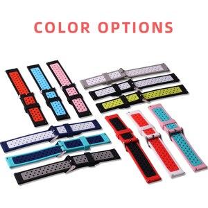 Image 2 - BOORUI new 20mm 22mm strap Amazfit pace silicone strap for xiaomi amazfit bip mijia quartz Garmin Forerunner 645 Vivoactive 3