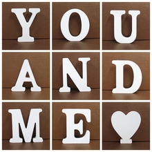 4/5/6pcs/lot 8cm A-Z White Wooden Letters English Alphabet Personalised Name Design Art Craft Wedding Home Decor